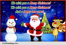 We Wish You A Merry Christmas! Free Merry Christmas Wishes eCards | 123  Greetings