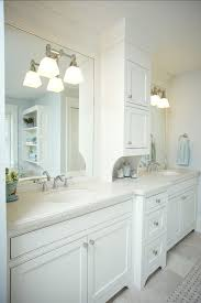 Contemporary White Bathroom Cabinets With Granite Storage Bath Kid Bathrooms Beach Master Throughout Concept Design
