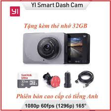 Camera Hành Trình Ô tô Xiaomi Yi Nét 2K 1296P - Kèm thẻ nhớ 32GB class10 -  BH 12 tháng
