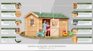 Spielhaus Spring Park 235 X 175 Meter Aus 19mm Blockbohlen