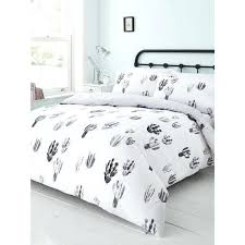 black and white duvet sets cactus print duvet set a liked on featuring home bed bath black and white duvet sets