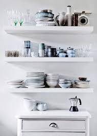 diy white floating shelves for kitchen