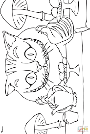 Small Picture Cheshire Cat Coloring Page Tim Burtons Cheshire Cat Coloring Page