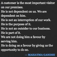 Image gallery for : gandhi quotes customer