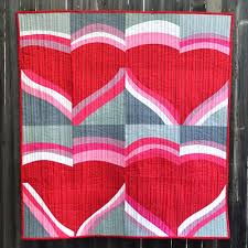 Quilt Inspiration: Free pattern day: Hearts and Valentines & Latitude batik heart quilt, 70 x 70