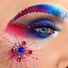 creative makeup july 4th red white and blue