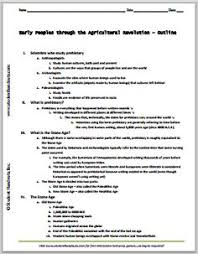 early peoples through the agricultural revolution powerpoint early peoples through the agricultural revolution printable outline pdf file