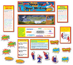 spice up your writing classroom display set primary school  spice up your writing classroom display set