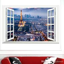 fake window decal the scenery out of the window wall art decal sticker window view wallpaper fake window decal