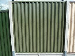 solid metal fence panels. Solid Metal Fencing Panels Fence