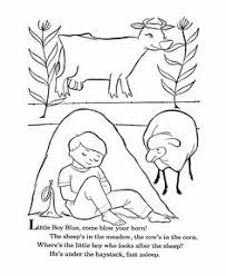Small Picture Coloring Pages Little Boy Blue Speakaboos Worksheets infantil