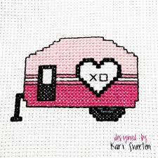 Free Cross Stitch Pattern Love Camper