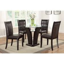 derik 5 piece dining table and luxury dark espresso finished chairs set overstock