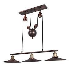 Pulley Rope Orangea Pulley Pendant Light 18quot Dia 344quot Vintage Ceiling Lamp 39quot Amazoncom Orangea Pulley Pendant Light 18