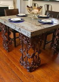 wrought iron and wood furniture. Reclaimed Wood And Salvaged Wrought Iron Makes A Unique Table Furniture