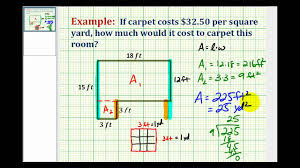 Carpet Size Conversion Chart Example Determine Square Yards From Square Feet Application