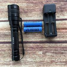 Đèn pin siêu sáng LED P50 sáng gấp 4 lần Led T6 dùng 2 pin + tặng kèm đế  sạc pin đôi
