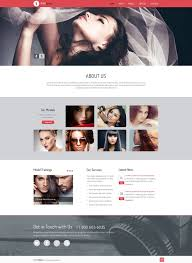 Web Page Design Models Model Agency Responsive Website Template 50453 Website