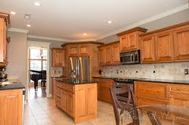 Wood Kitchen Cabinets With White Trim Appliances Tips And Wall