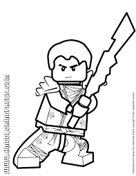 Small Picture Ninjago Jay KX With Elemental Blade Coloring Page H M Coloring
