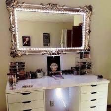 nifty vanity lighted mirror p19 in creative home decor arrangement