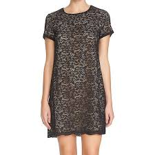 Cece By Cynthia Steffe New Black Nude Womens Size 0 Lace Shift Dress