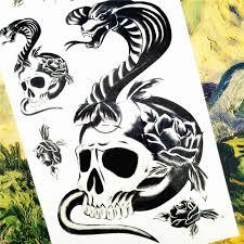 Shnapign Salamander змея черепа временные татуировки средства ухода за кожей книги по