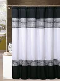 white and black shower curtain. White, Black, And Silver/Gray Shower Curtain: Sequins, 72in X White Black Curtain U