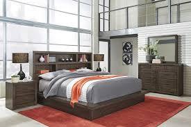 Hudson full gray storage bedroom set. Modern Loft Brown Queen Platform Bedroom Set The Furniture Mart