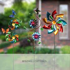 decorative metal wind spinners garden