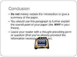 Writing the Conclusion English  H Research Paper    ppt download FAMU Online