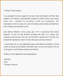 How To Write A Scholarship Lettermple Letter Of Re Mendation