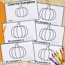 Get free printable coloring sheets. Color Words Pumpkin Book Free Printable Book For Kids