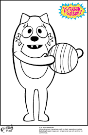 Yo Gabba Gabba Toodee Coloring Pages