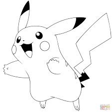 Pokémon Go Pikachu Coloring Page From
