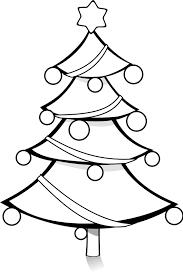Free Clipart Christmas Tree Coloring Page Pianobrad