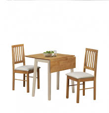 Birlea Lille Drop Leaf Solid Wood Dining Table 2 Chairs High Top