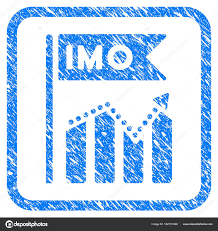 Imo Chart Trend Framed Grunge Icon Stock Vector Ahasoft