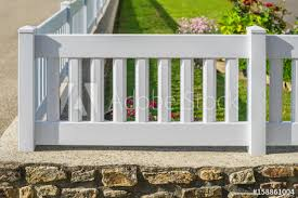 plastic garden fence in white pvc on a