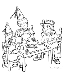 Small Picture Kids Birthday Party page to print and color pages 2 color
