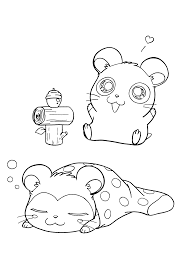 Hamtaro Rainbow Rescue Coloring Page 3 Can You Give Rainbow The