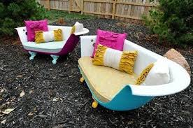 cool garden furniture. Too Cool, Bath Tubs Turned In To Contemporary Garden Furniture, Tumble. Cool Furniture A