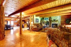 ... Extraordinary Image Of Log Cabin Interior Design Ideas : Exquisite  Rustic Living Room Decoration With Rustic ...