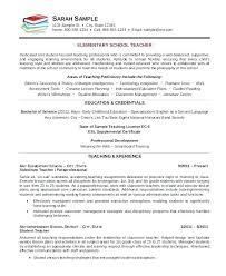 Sample Education Resume Elementary Teacher Resume Template 7 Free