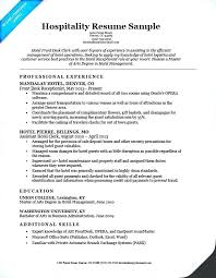 Example Hospitality Resume Cool Hotel Front Desk Resume Front Desk Resume Sample Hospitality Front