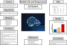 Science Fair Project Poster Image Example