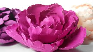 Cardstock Paper Flower How To Make Peony Rose Paper Flower Diy Easy Tutorial Flowers Out