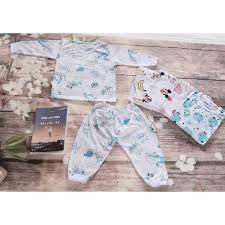 Xưởng Thanh Lý - Combo 5 bộ quần áo coton sgiaays dài tay cho bé trai-bộ đồ  dài tay cho bé gái-quần áo dài tay sơ sinh giá cạnh tranh