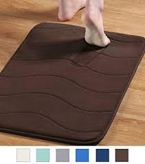 flamingo p soft non slip absorbent bath rugs memory foam bath mats by brown waved pattern size w17 xl24 wantitall