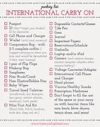 International Travel Packing Checklist History In High Heels Packing Tips International Carry On